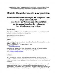 Seiten aus parallelreport Argentinien